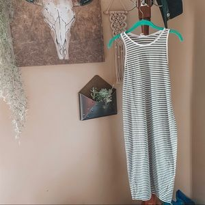LOFT lounge • t-shirt tank striped dress